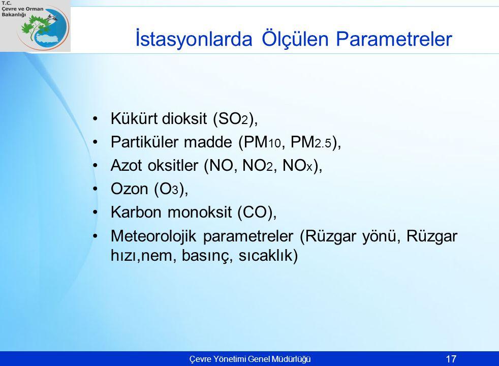 İstasyonlarda Ölçülen Parametreler