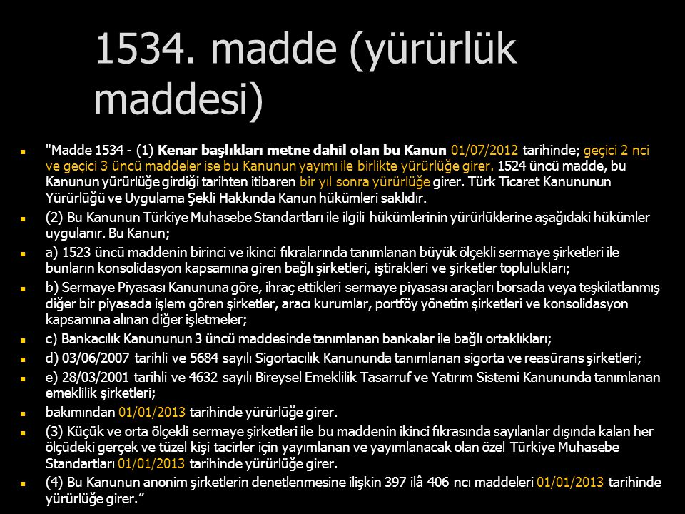 1534. madde (yürürlük maddesi)