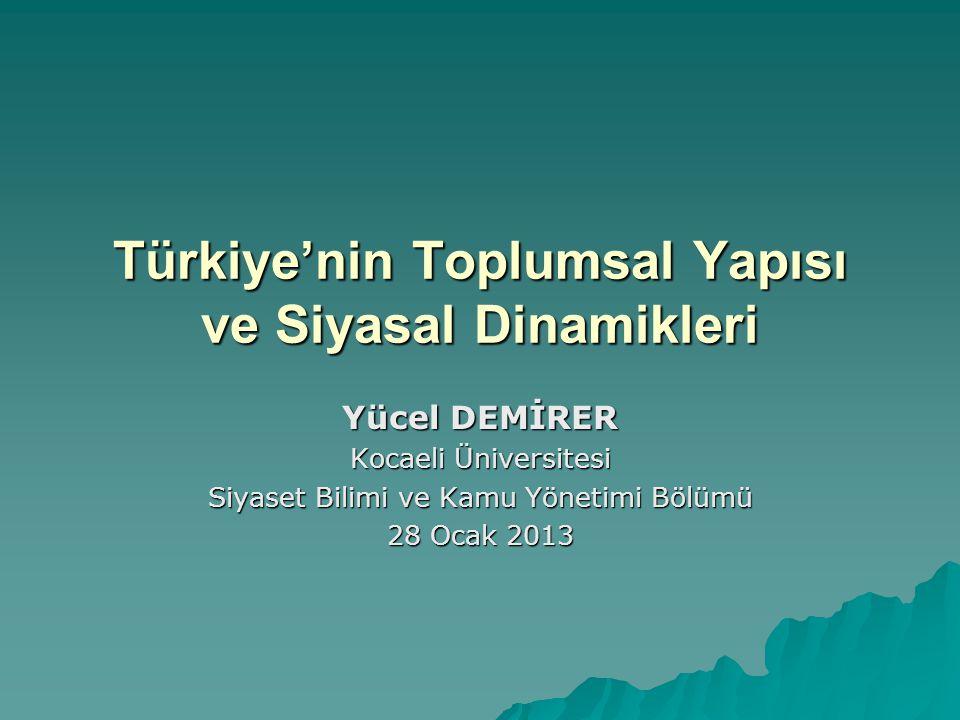 Türkiye'nin Toplumsal Yapısı ve Siyasal Dinamikleri