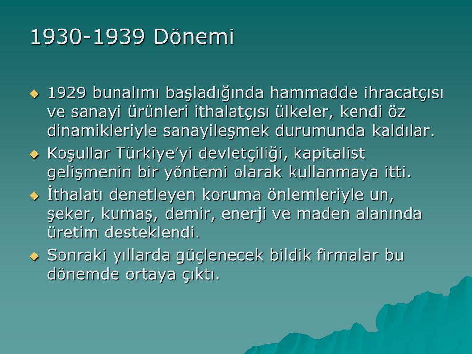 1930-1939 Dönemi
