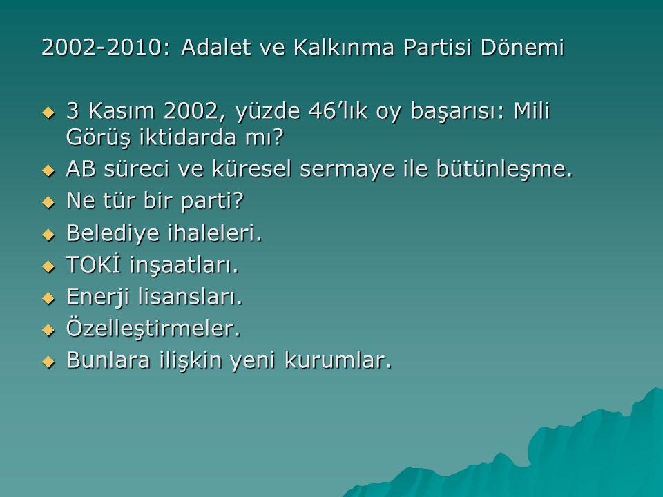 2002-2010: Adalet ve Kalkınma Partisi Dönemi