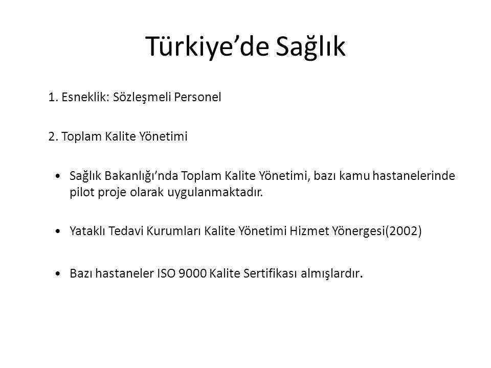 Türkiye'de Sağlık 1. Esneklik: Sözleşmeli Personel