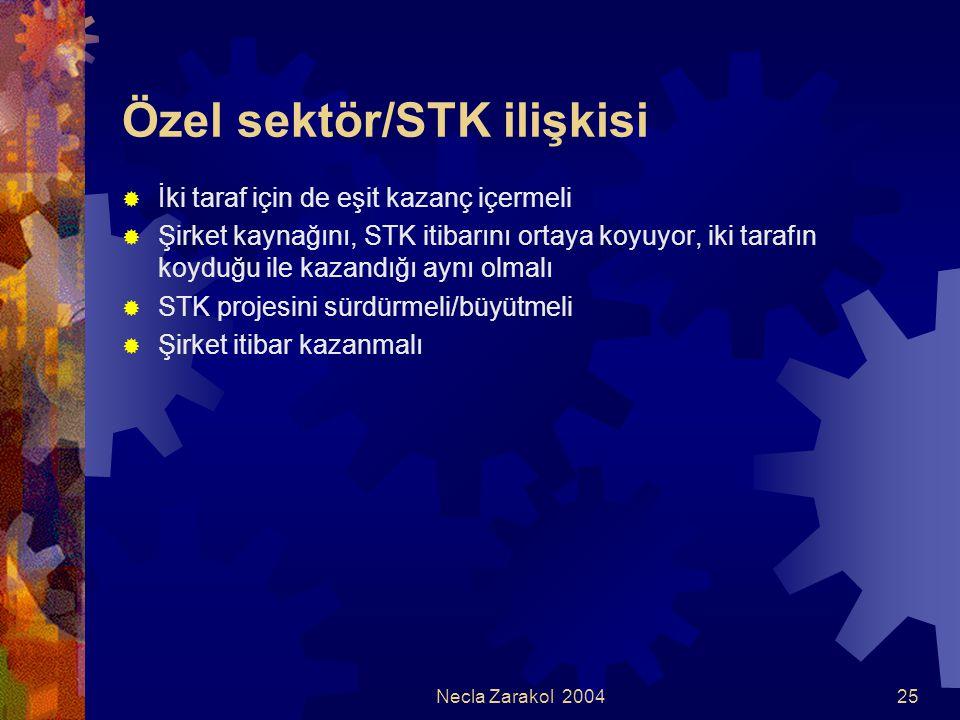 Özel sektör/STK ilişkisi