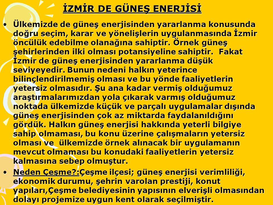İZMİR DE GÜNEŞ ENERJİSİ