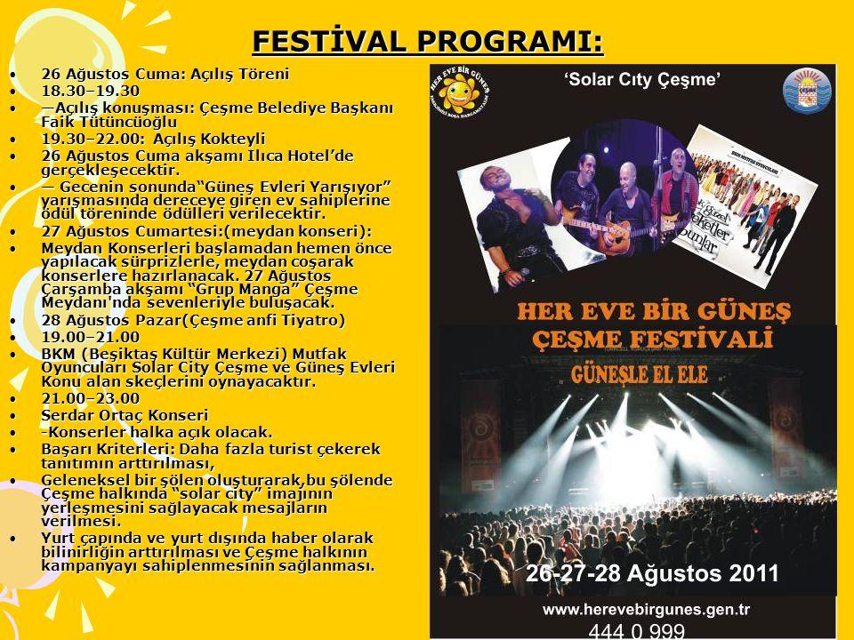 FESTİVAL PROGRAMI: 26 Ağustos Cuma: Açılış Töreni 18.30–19.30