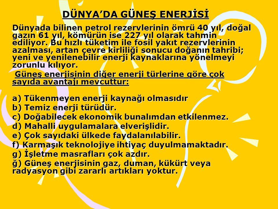 DÜNYA'DA GÜNEŞ ENERJİSİ