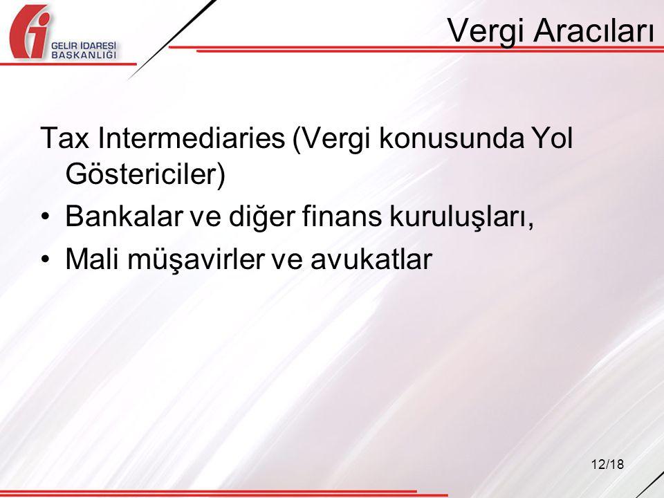 Vergi Aracıları Tax Intermediaries (Vergi konusunda Yol Göstericiler)