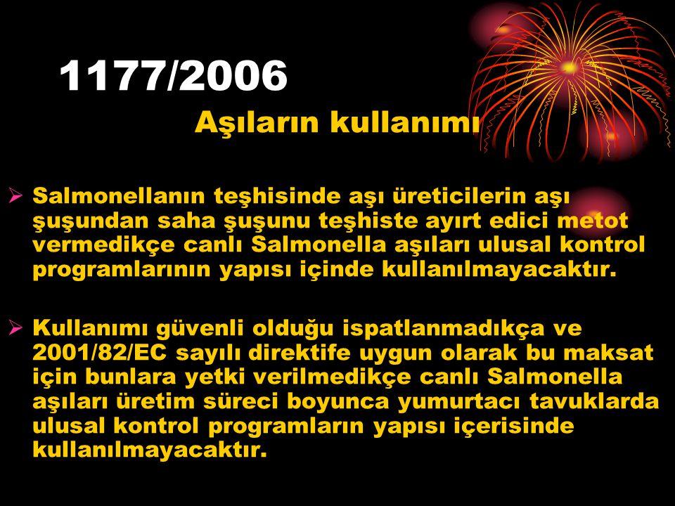 1177/2006 Aşıların kullanımı.