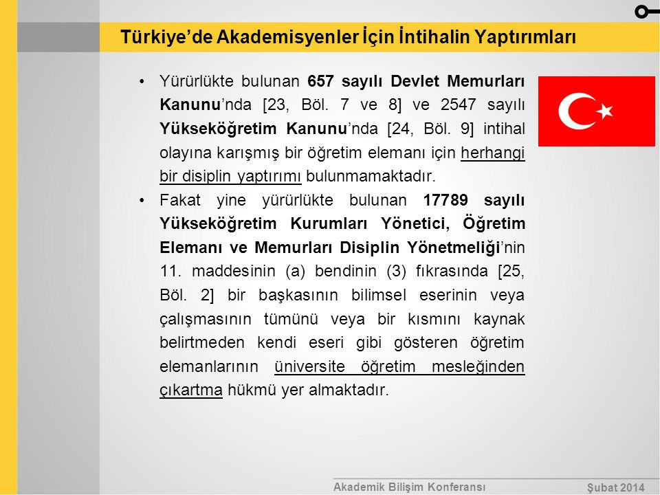 Türkiye'de Akademisyenler İçin İntihalin Yaptırımları