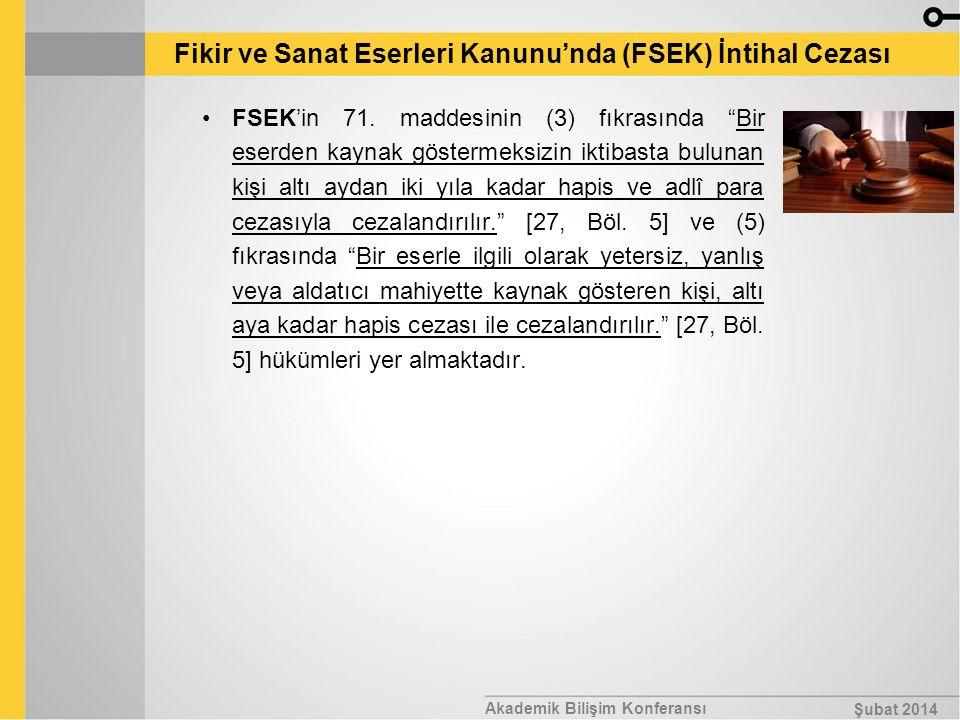 Fikir ve Sanat Eserleri Kanunu'nda (FSEK) İntihal Cezası