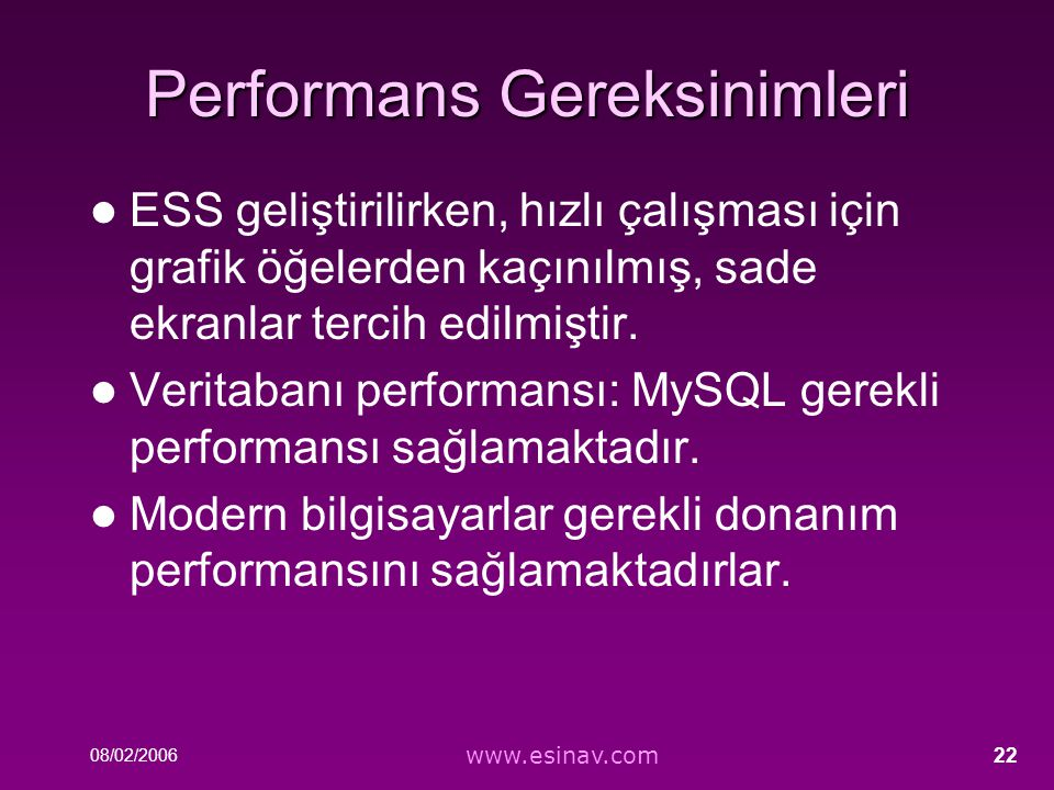Performans Gereksinimleri