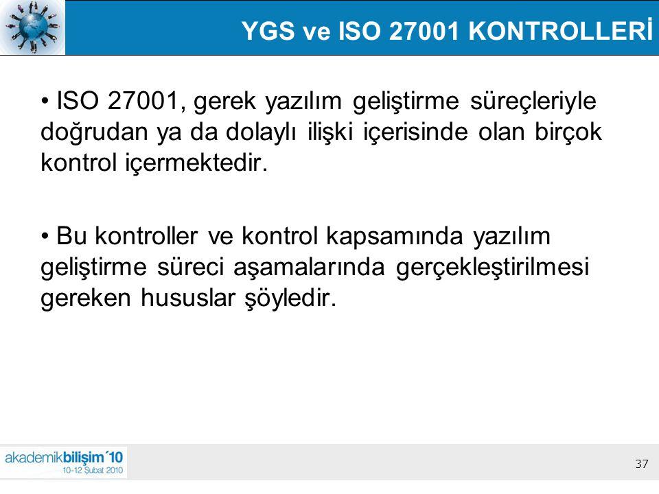 YGS ve ISO 27001 KONTROLLERİ