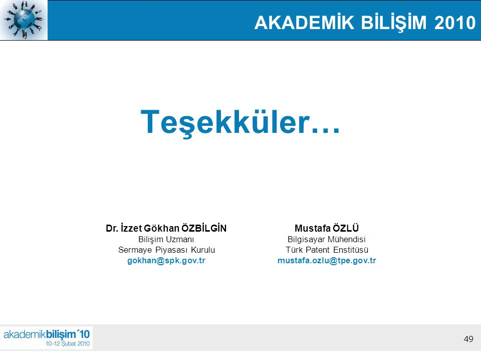 Dr. İzzet Gökhan ÖZBİLGİN