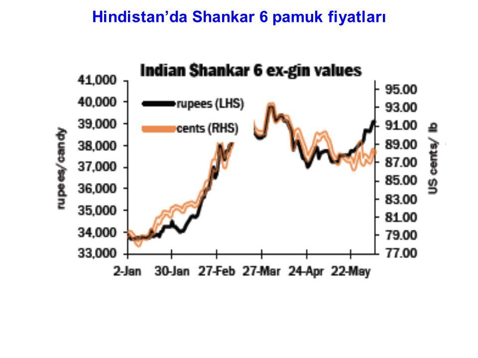 Hindistan'da Shankar 6 pamuk fiyatları