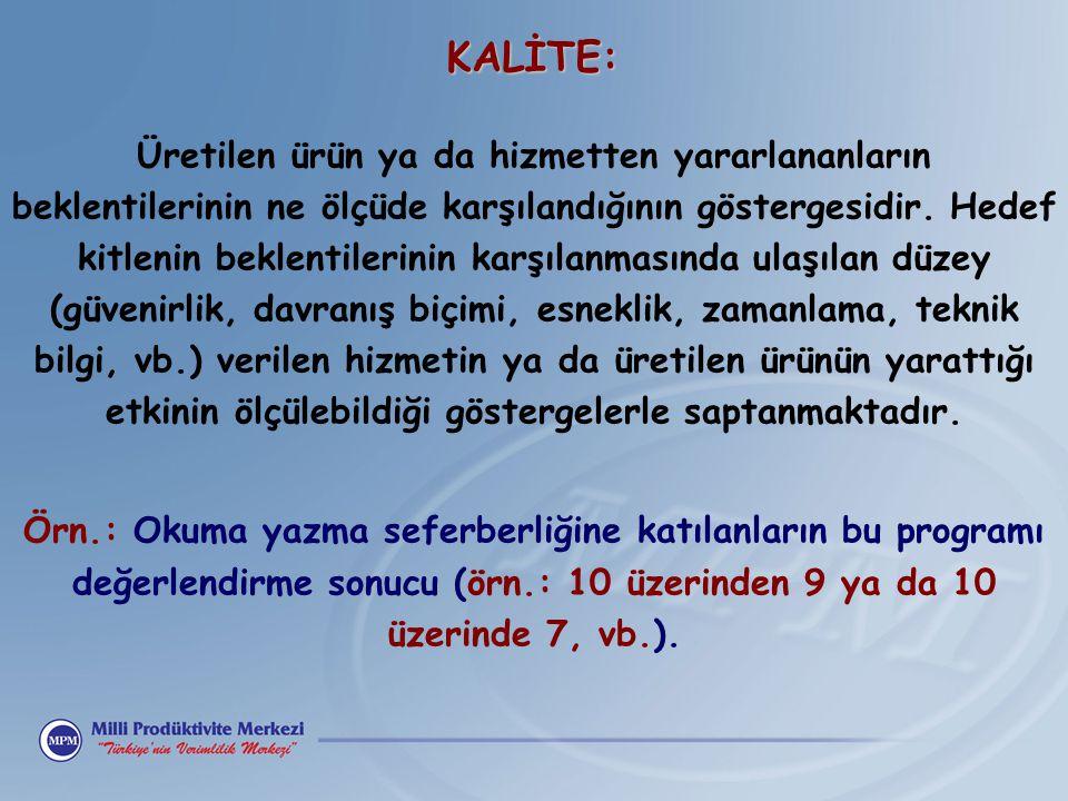 KALİTE: