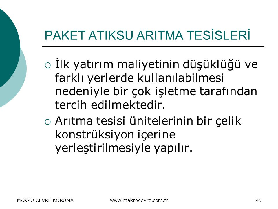 PAKET ATIKSU ARITMA TESİSLERİ
