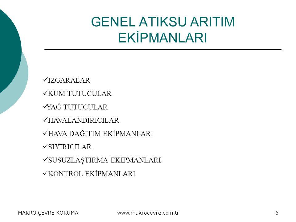GENEL ATIKSU ARITIM EKİPMANLARI