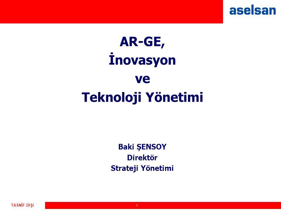 AR-GE, İnovasyon ve Teknoloji Yönetimi