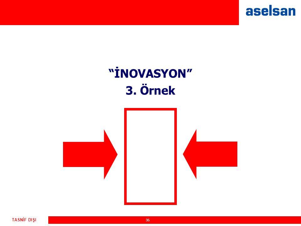 İNOVASYON 3. Örnek