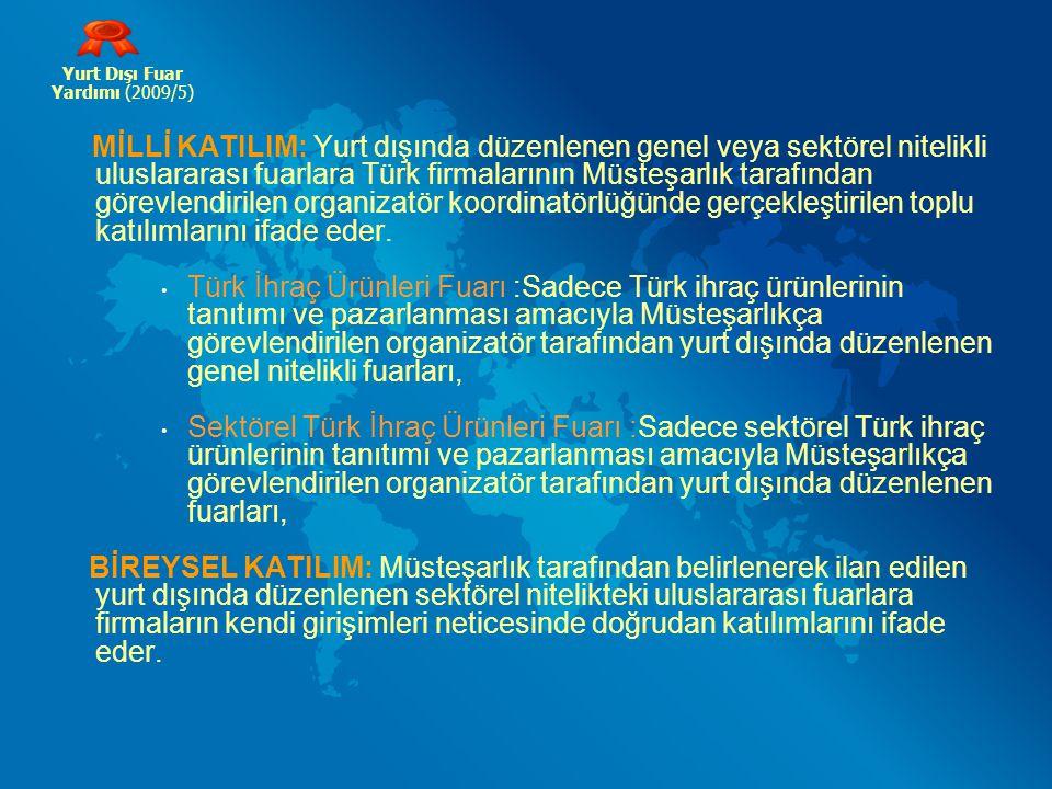Yurt Dışı Fuar Yardımı (2009/5)