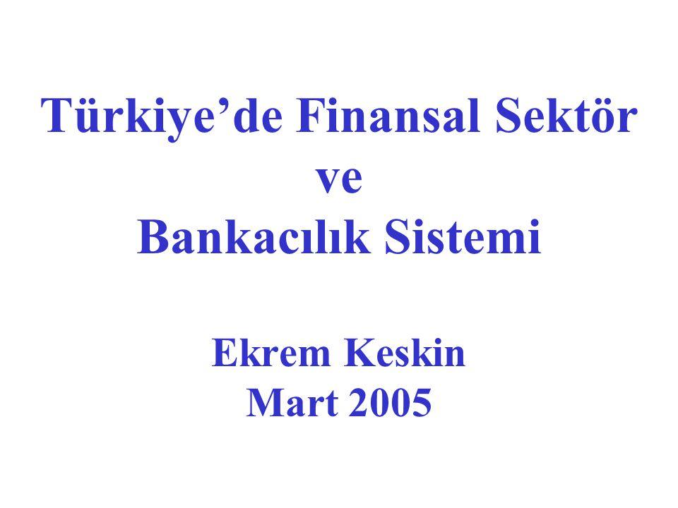 Türkiye'de Finansal Sektör ve Bankacılık Sistemi Ekrem Keskin Mart 2005