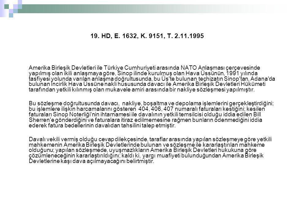 19. HD, E. 1632, K. 9151, T. 2.11.1995