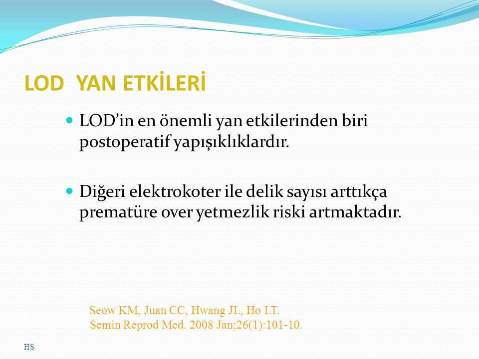 LOD YAN ETKİLERİ LOD'in en önemli yan etkilerinden biri postoperatif yapışıklıklardır.