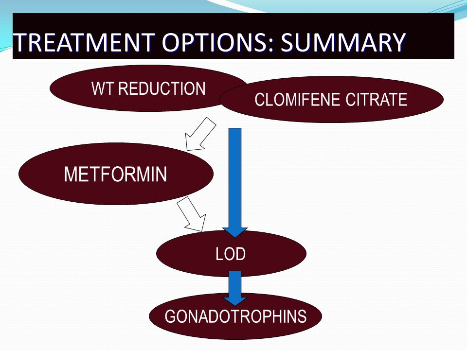 TREATMENT OPTIONS: SUMMARY