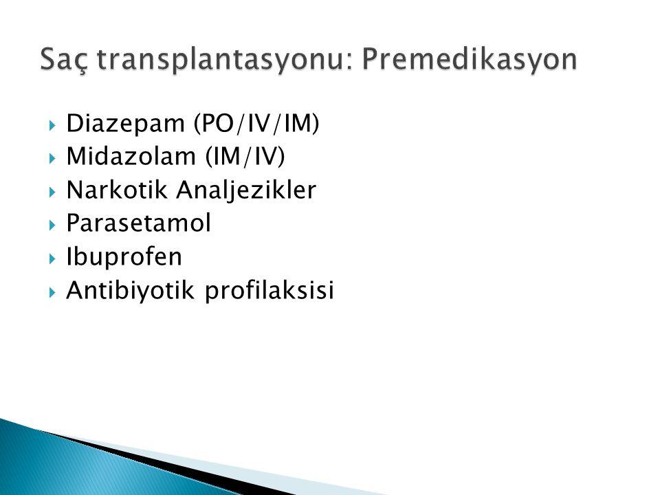 Saç transplantasyonu: Premedikasyon