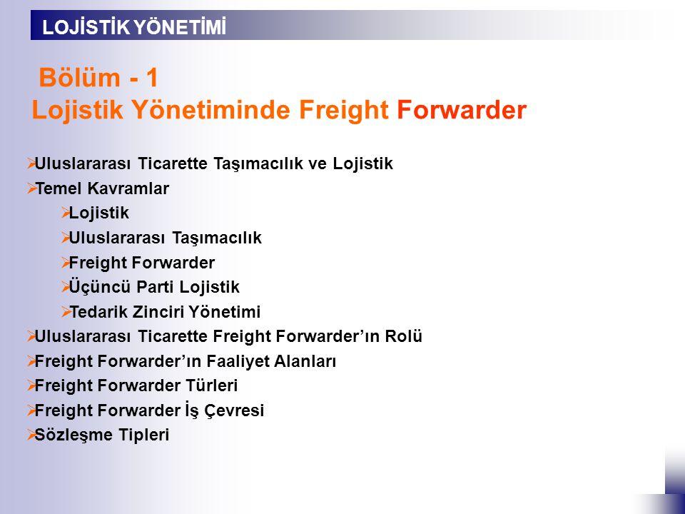 Lojistik Yönetiminde Freight Forwarder