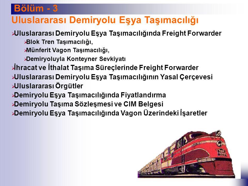 Uluslararası Demiryolu Eşya Taşımacılığı