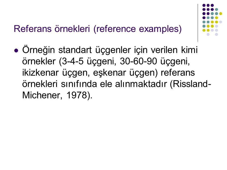 Referans örnekleri (reference examples)