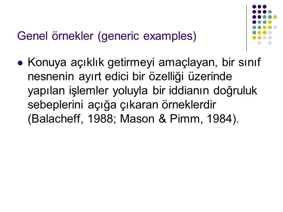 Genel örnekler (generic examples)