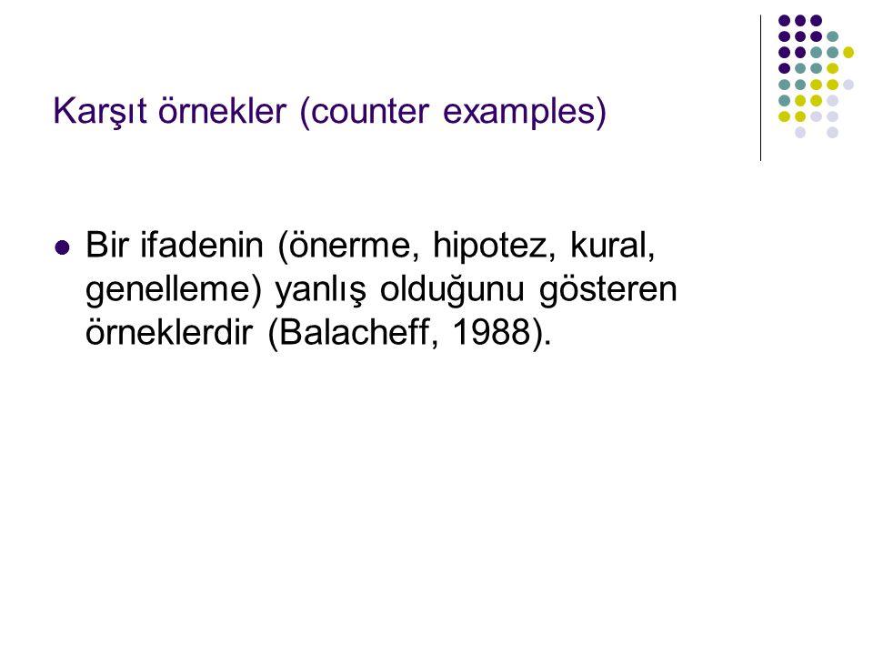 Karşıt örnekler (counter examples)