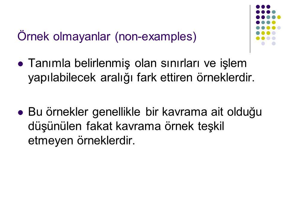 Örnek olmayanlar (non-examples)