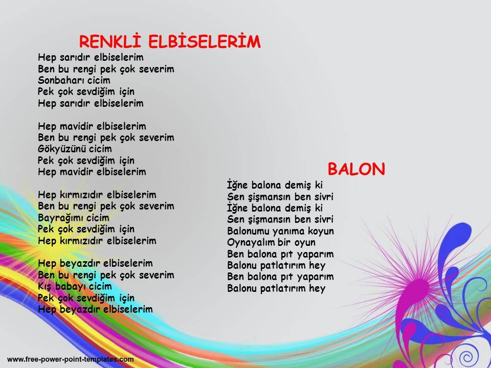 RENKLİ ELBİSELERİM BALON