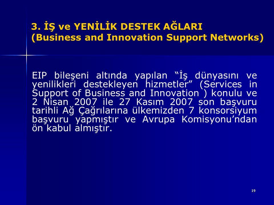 3. İŞ ve YENİLİK DESTEK AĞLARI (Business and Innovation Support Networks)