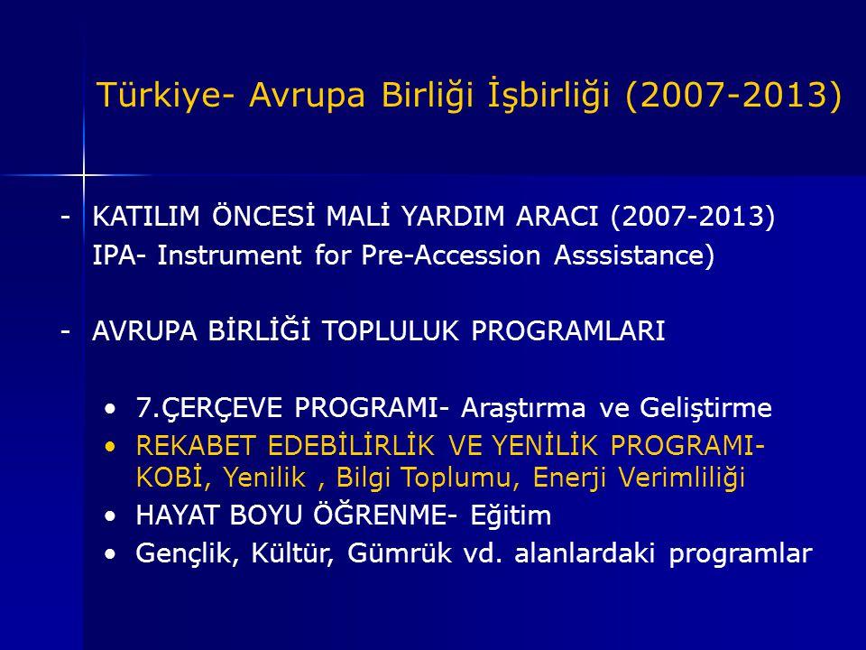 Türkiye- Avrupa Birliği İşbirliği (2007-2013)