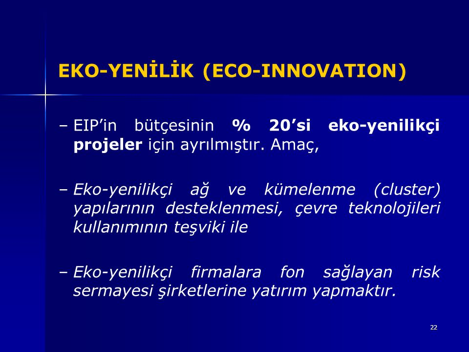 EKO-YENİLİK (ECO-INNOVATION)