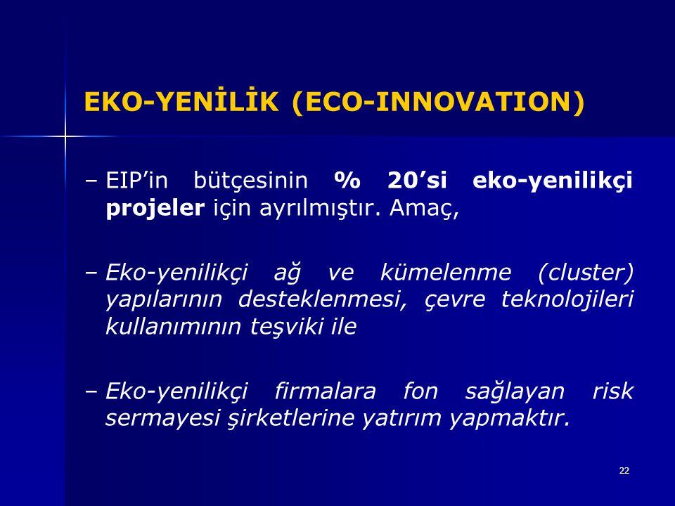 EKO-YENİLİK (ECO-INNOVATION)