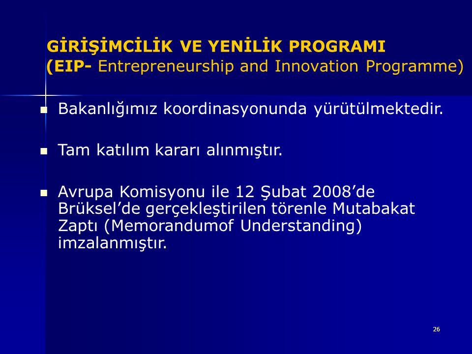 GİRİŞİMCİLİK VE YENİLİK PROGRAMI (EIP- Entrepreneurship and Innovation Programme)