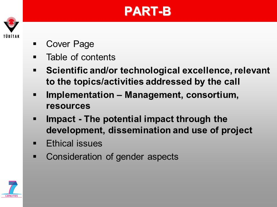PART-B Cover Page Table of contents