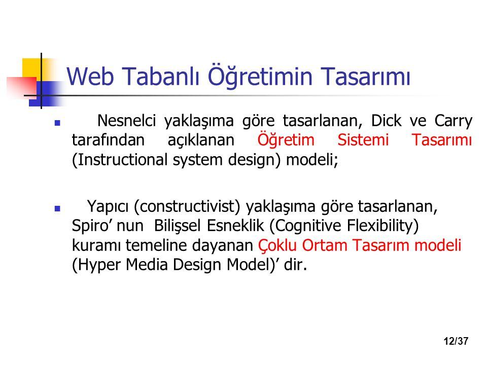 Web Tabanlı Öğretimin Tasarımı