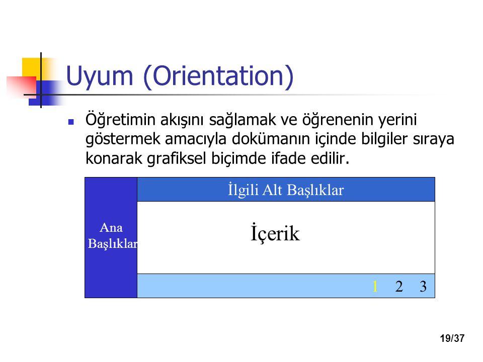 Uyum (Orientation) İçerik