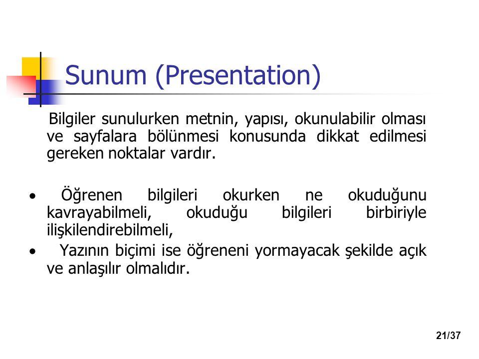 Sunum (Presentation)