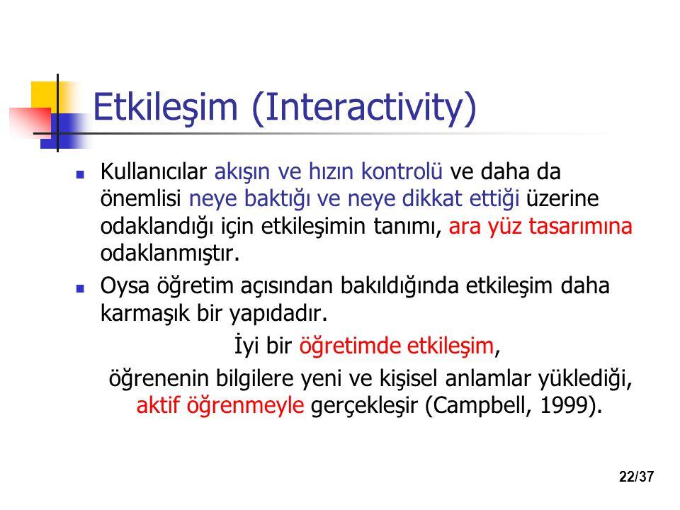 Etkileşim (Interactivity)