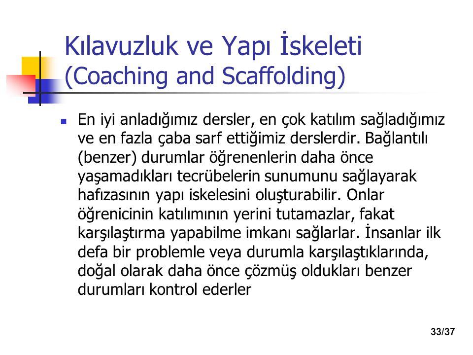 Kılavuzluk ve Yapı İskeleti (Coaching and Scaffolding)
