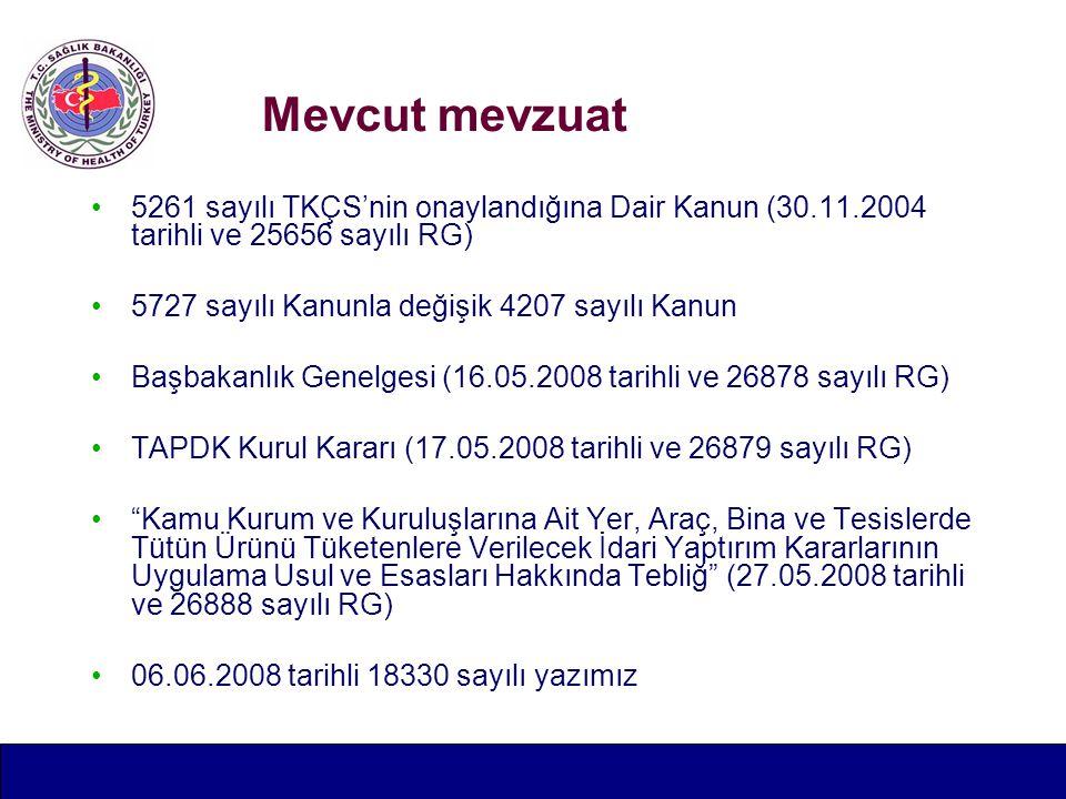 Mevcut mevzuat 5261 sayılı TKÇS'nin onaylandığına Dair Kanun (30.11.2004 tarihli ve 25656 sayılı RG)
