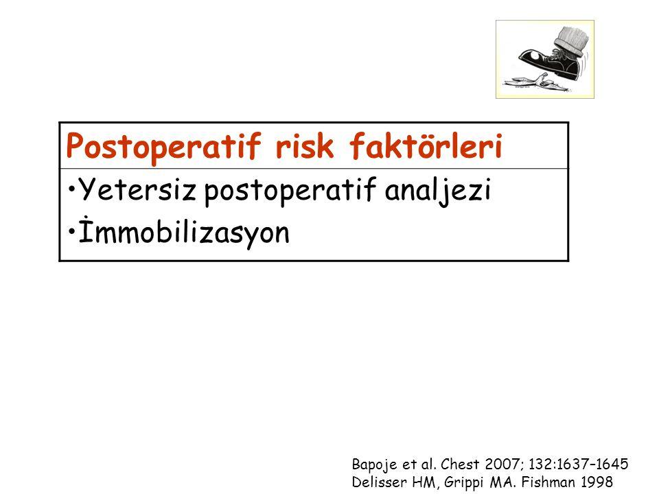 Postoperatif risk faktörleri