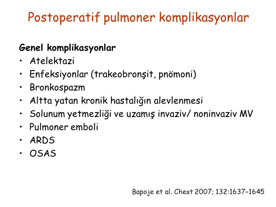 Postoperatif pulmoner komplikasyonlar